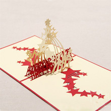 Handmade 3D Greeting Card Sky Stars Happy Birthday Thanksgiving Wedding Best Wishes Cards Greeting Post Card