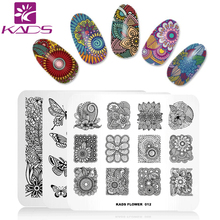 KADS New Arrival Fashion Flower Theme Template Stencil Beauty Tools Nail Art Image Stamp Plate Christmas nail stamp plate(China)