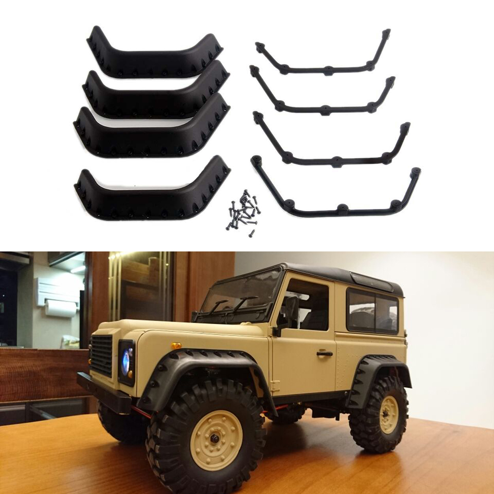 1:10 RC Crawler Black Fender Flares for Axial SCX10 RC4WD Gelande II D90 D110 Body Shell Parts<br><br>Aliexpress