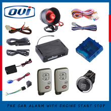 Smart car alarm with auto start stop engine function slim ignition start button auto central lock or unlock car door