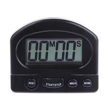 0-99 Minutes ABS LCD Digital Timer Alarm Clock Countdown Up Gadgets Large Screen Practical Kitchen Timer Cooking Tools Black