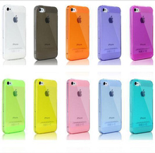 Buy 2pcs get 50% discount 10 Colors sell Ultra Thin Clear Shell Capa Clear Cover for iPhone 5s 5 4 4s Hot  Back Case for iphone5
