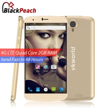 VKworld T6 4G Mobile Phone 6 inch HD 1280x720 IPS MTK6735 Quad Core Android 5.1 2GB RAM 16GB ROM 8MP Cam OTG Dual SIM Smartphone