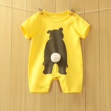 2016 summer Cartoon Baby Romper Short Sleeve bear pattern Rompas Clothes Baby Girl Jumpsuits Infantil Baby Clothing One Piece