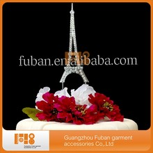 (20pieces/lot)New design Eiffel Tower Rhinestone Cake Topper(China)