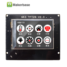 3d printing touch screen RepRap controller panel MKS TFT28 V2.0 display color TFT support/WIFI/APP/outage saving local language