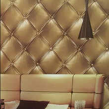 2015 new arrive leather designs 3d waterproof wallpaper for bathroom , papel de parede 3d moderno(China)