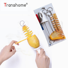 Tornado Potato Spiral Cutter Slicer Spiral Potato Chips PRESTO 4spits Potato Tower Making Twist Shredder Cooking Tools(China)