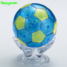 Happyxuan  Football Plastic  DIY 3D Jigsaw Crystal Puzzle  Educational Toys or Home Decoration Birthday Gif t for Children