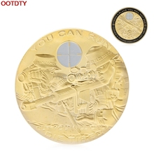 Coins Gold Plated You Can Run But You Will Only Die Tired Commemorative Coin Collectible Challenge #H0VH#(China)