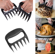 2016 NEW 2pcs/lot Grizzly Claws Meat Handler Fork Tongs Pull Shred Pork BBQ Barbecue Tool Bear Paws Claws Forks