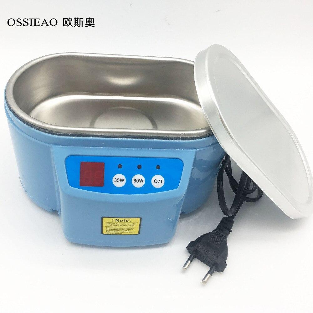 OSSIEAO Hot 35W/60W 220V Mini Ultrasonic Cleaner Bath For Cleanning Jewelry Watch Glasses Circuit Board limpiador ultrasonico EU<br>