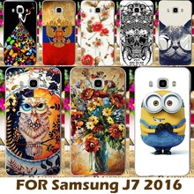 DIY Painting design Hard Plastic Case For Samsung Galaxy J7 2016 J710 J710F J710H 5.5 inch Phone Cover Para Protective Sleeve