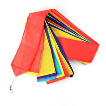Outdoor Fun Sports Kite Accessories Large 15M Rainbow Kite Tail For Delta Kite Stunt Kite Flying Smoothly Kids Gift(China)