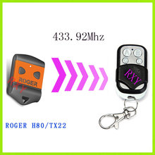 copy ROGER H80/TX22 remote 433.92mhz with battery