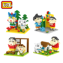 LOZ Crayon Shin-chan Japanese Anime boys plastic cube building blocks cartoon For Ages 14+(China)