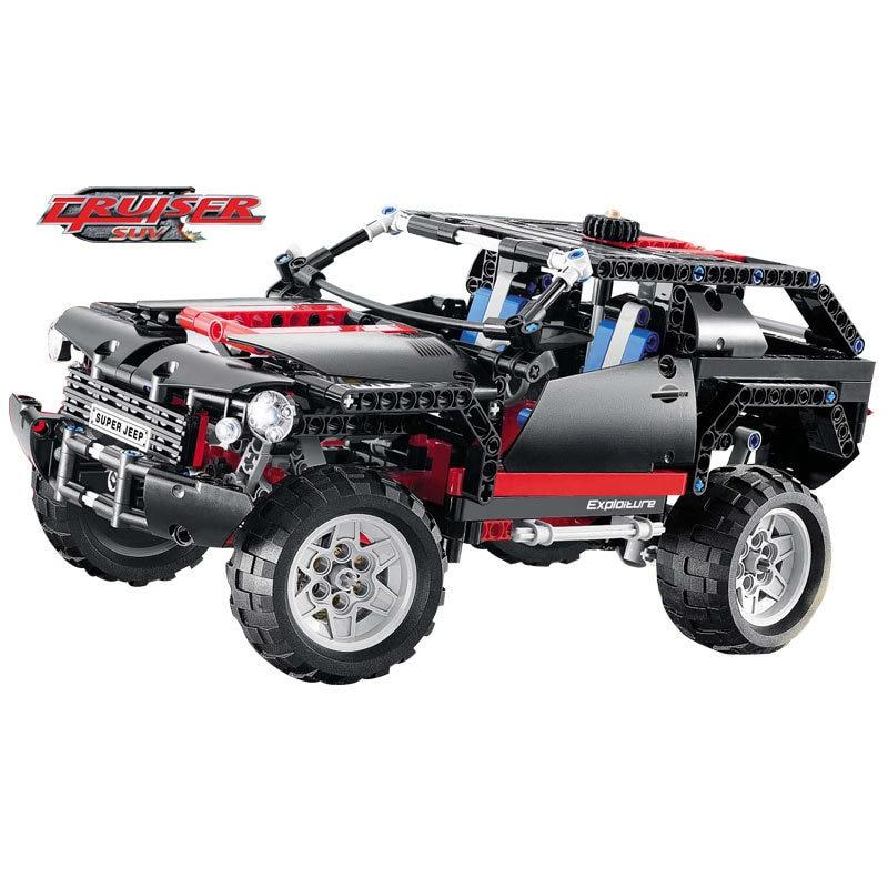 3341 589pcs Decool Transport Cruiser SUV Racing Car Set Model Building Block Educational DIY Toys  lepin<br>