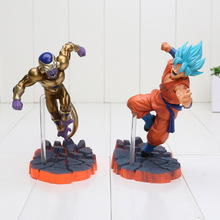 14cm Dragon Ball Z Super Saiyan Son Goku Freeza Juguetes PVC Action Figure Collectible Brinquedos Model Doll Kids Toys