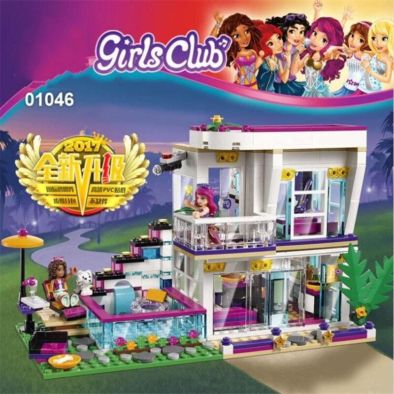 (A Toy A Dream)  10498 Friends Series Livis Pop Star House Building Blocks Andrea mini-doll figures Toy Friends 41135<br>