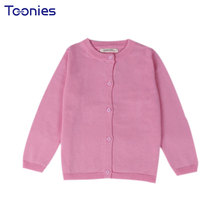 2017 New Baby Children Clothing Boys Girls Candy Color Knitted Cardigan Sweater Kids Spring Autumn Cotton Outer Wear 10 Color(China)