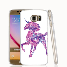 17479 Watercolor Unicorn house cell phone case cover for Samsung Galaxy S7 edge PLUS S6 S5 S4 S3 MINI