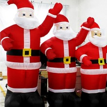 EU Plug Chirstmas Decoration Santa Claus Inflatable Christmas Inflatables Inflatable Santa Claus Decoration Holiday Figurines