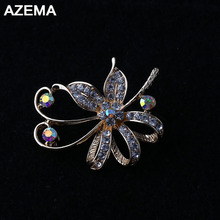 AZEMA 2018 New Fashion Style Special Flower Brooches Made Of Alloy Beautiful Brooch For Girls And Woman Popular Low Prices XZ-20(China)