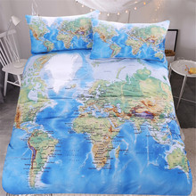 World map bedding promotion shop for promotional world map bedding free shipping blue world map bedding set 1pc duvet cover2pcs pillow cases children home textile gumiabroncs Image collections