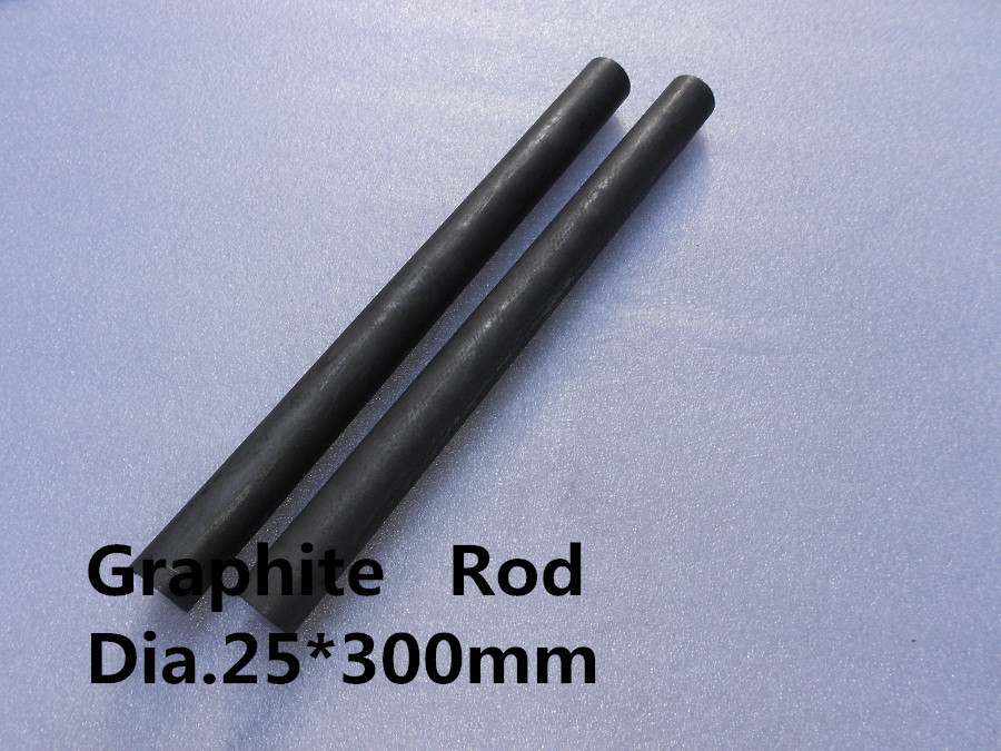 Dia.25*300mm Carbon graphite rod     /spectroscopically pure graphitized carbon stick/ FREE SHIPPING  2pcs<br>