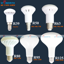 high quality R50 LED lamp E14 3W 5W 7W led light R39 R63 r80 r95 r125 led bulb e27 base ac 110v 220v 240v warm cold white lights