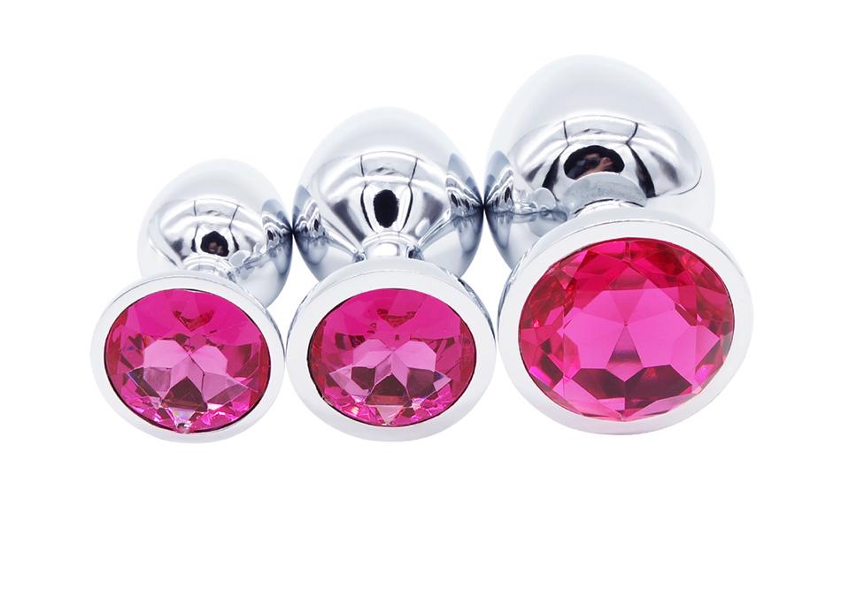 DOMI 3pcs/Set Small Medium Big Stainless Steel Metal Anal Plug Dildo Sex Toys Products Butt Plug Gay Anal Beads 8