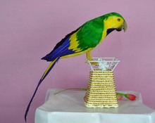 cute simulation parrot toy polyethylene & furs green and yellow parrot model gift about 40cm1149(China)