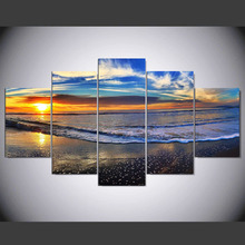 5 Panel Large Wall Scenery Picture Modern Art Painting Canvas Beach Sunset Kids Room Wall Images Home Decor kn-133