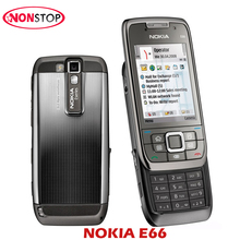 Original Nokia E66 Single Core Slide Cell Phone 3G Bluetooth Mp3 Player 3.15MP Mobile Phone Refurbished Symbian NOKIA E66 Phones(China)