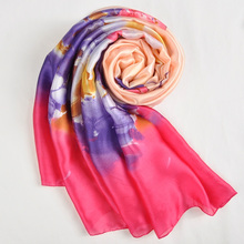 Floral Print Spring Silk Scarf Women Shawls Fall Winter Scarf Cheap Chiffon Foulard Ladies Scarves Stoles Echarpe Hiver Femme(China)