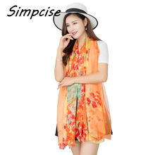 Simpcise Beach Cover-up for Womens Hawaiian Floral Swimsuit Sarong Womens bikini Pareo lady Summer wraps Shawl F15A209065(China)