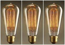 Buy Lightinbox 3 PACK Vintage Light Bulb Filament E27 Edison Style Squirrel Cage for $16.73 in AliExpress store