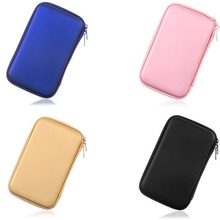 "Mulyi-function Hard Carry Toiletry Mobile phone bag Case Cover Pouch for 2.5"" USB External WD HDD Hard Disk Drive Protect box"
