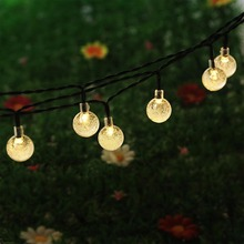Christmas Tree Decors 20 LED Solar String Light Bubble Shape Lamp Xmas Tree