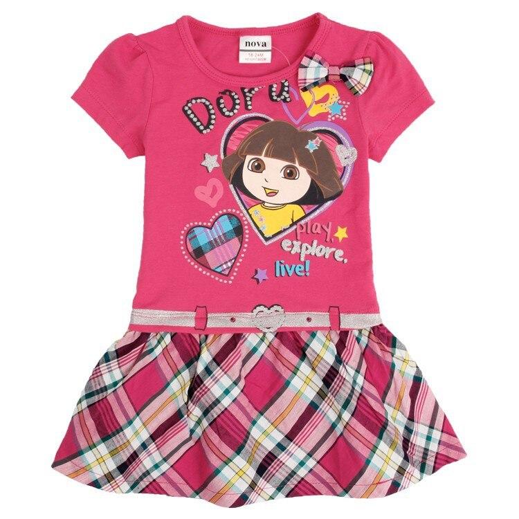 Dora girl Dress Childrens Clothing NOVA Fashion Kid Clothing  Summer dress for Girls Toddler Princess Dress girl H4709<br><br>Aliexpress