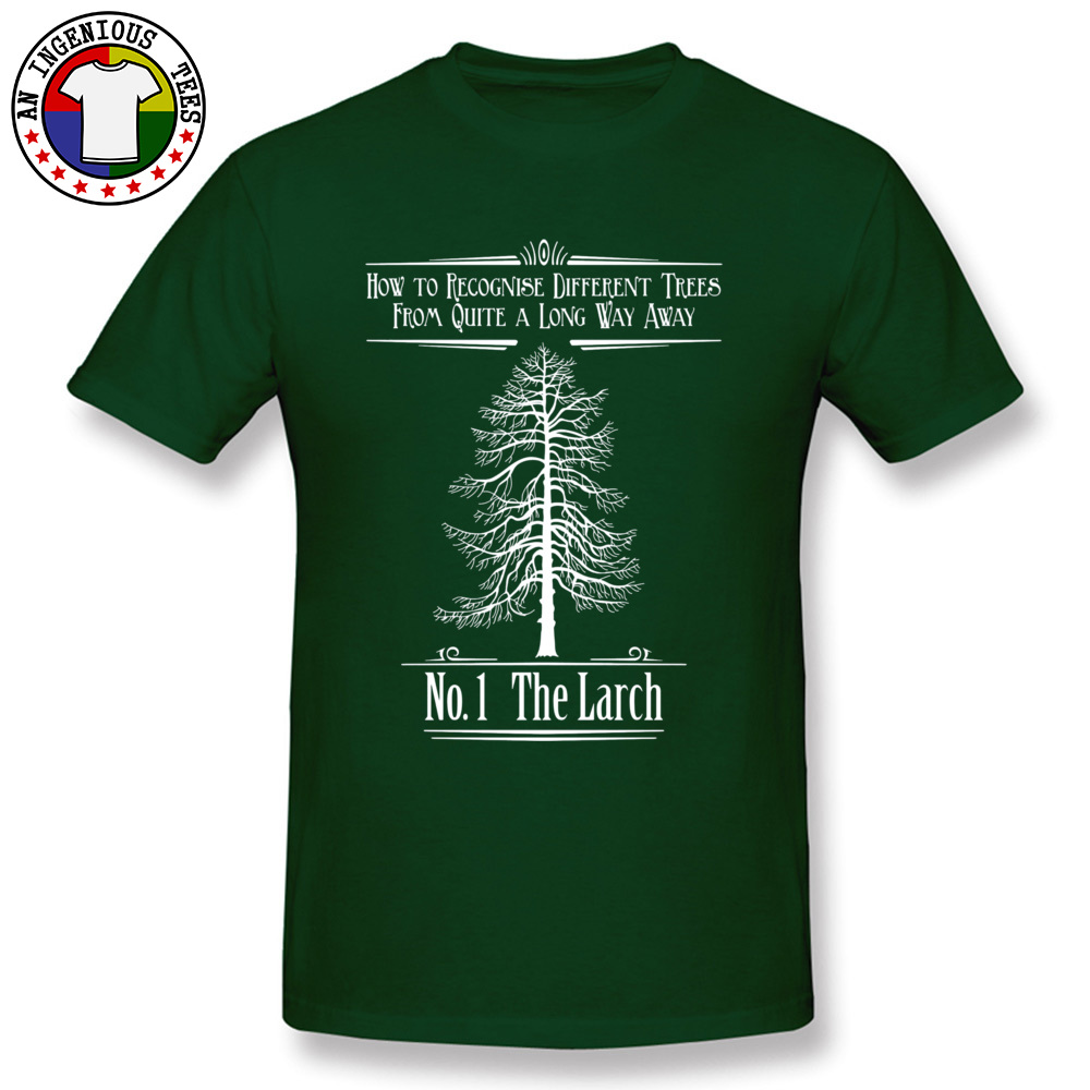 Tops T Shirt No. 1 The Larch 3301 T Shirts Autumn Funky Customized Short Sleeve 100% Cotton O-Neck Men T-Shirt Customized No. 1 The Larch 3301 dark