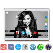 2017 New Android 5.1 Google Play Store 10 inch 3G 4G LTE Tablets PC Octa Core Dual Camera 5.0MP 4GB RAM 64GB ROM GPS tablet 10.1