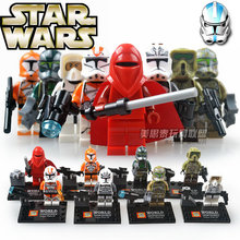 8pcs STAR WARS The Force Awakens Space Clone Snow Storm Troopers Royal Red Guard Assemble minifig Building Blocks Kids Toys(China)