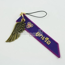 Thailand Airline   Luggage bag Tag with Metal Wing Purple Gift for Aviation Lover Flight Crew