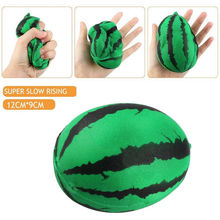 Squeeze Stretch Squishy Scented Watermelon Super Slow Rising Practical Jokes Toy Collect Chain(China)
