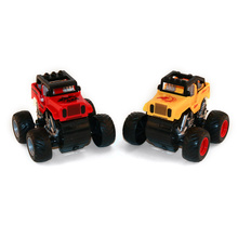 New Big Foot Inertial Stunt Cars with 2 Pcs 360 Degree Turn Competition Stunt Cars for Children Birthday Christmas Gift(China)