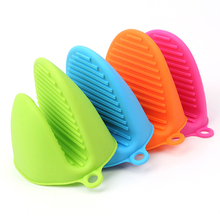 1Pc Kitchen Silicone Heat Resistant Gloves Clips Insulation Non Stick Anti-slip Pot Bowel Holder Clip Cooking Baking Oven Mitts(China)
