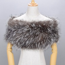 Luxury Genuine Real Fox Fur Striped Hand Sew Elastic Plus Size Women's Scarf Cape Pashmina Fur Stole Evening Shawl Wraps Poncho(China)
