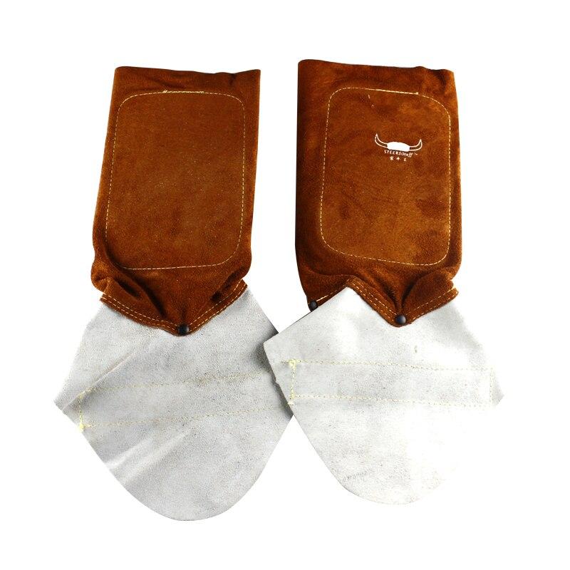 30 cm Weldas 44 - 7112 cow leather welder work protect leggings Split Cowhide Welding Leggings<br>