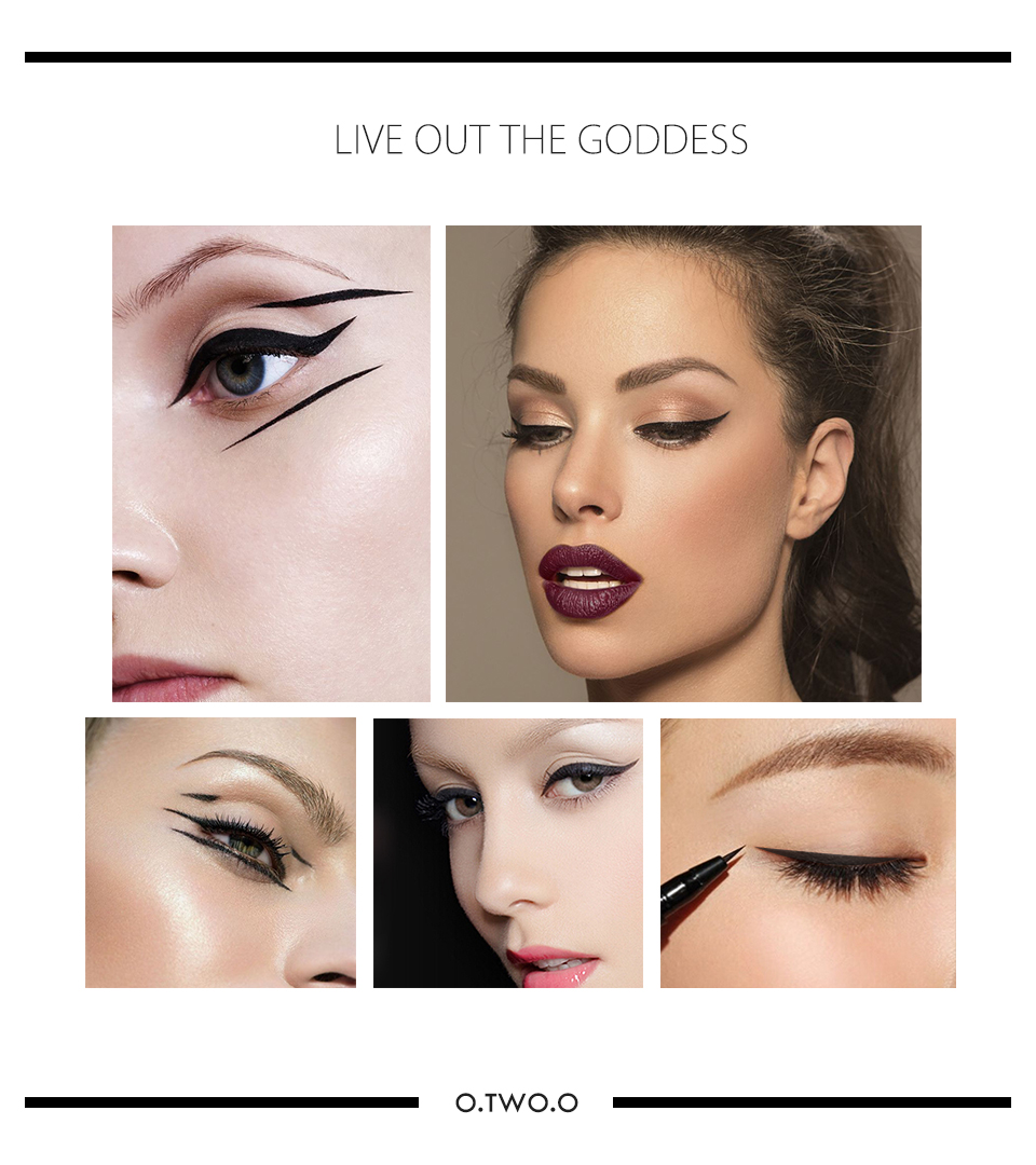 O.TWO.O Liquid Eyeliner Pencil Black Waterproof Professional Lasting Makeup Eye Liner Pen Pencil Easy To Wear Cosmetic Tools 7